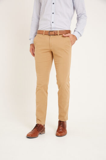 Chino slim fit de gabardina