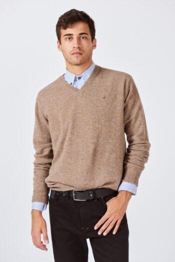 OUTLET Sweater liso escote V