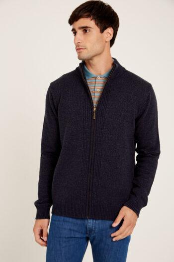 Campera tejida de lana gruesa