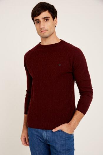 Sweater mangas ranglan tramado de lana acrilica