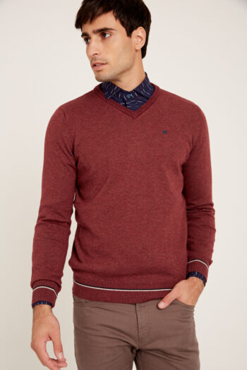 OUTLET Sweaters Liso Escote V Cinta Y Pitucon