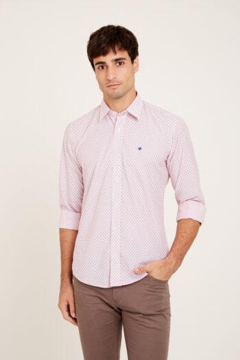 OUTLET Camisas Mangas largas slim fit con tirilla en bajo cuello sin bolsillo