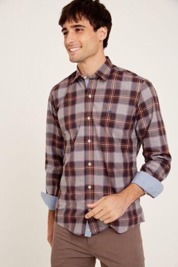OUTLET Camisas Mangas largas slim regular con tirilla en bajo cuello sin bolsillo