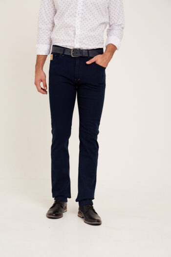 Jean regular fit de indigo desaprestado