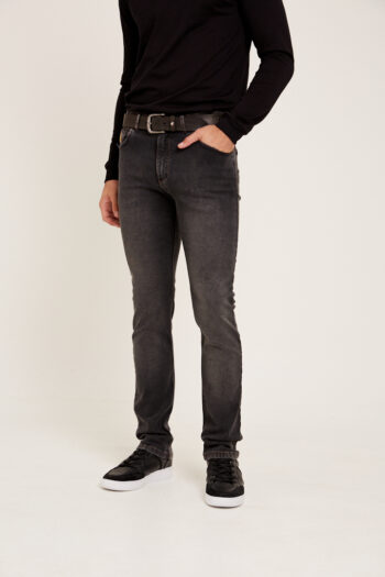 jean regular fit gris gastado