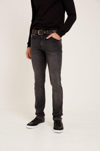 jean regular fit gris gastado