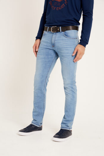 Jean regular fit de indigo azul matizado