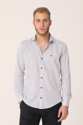 Camisa a rayas slim fit