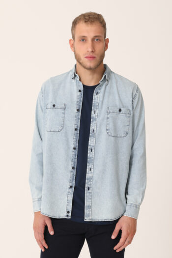 Camisa dos bolsillos slim plus fit de jean