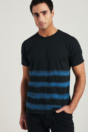 Remera mangas cortas con rayas batik de jersey