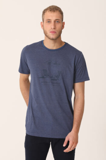 T-shirt mil rayas estampa UNSPOLT de jersey